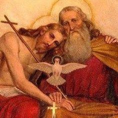 Jesus Christ God the Father Holy SpIrit Catholic Prayers, Catholic Art, Catholic Saints, Religious Art, Roman Catholic, Jesus Christ Images, Jesus Art, God Jesus, Religious Pictures
