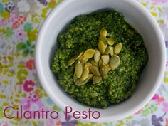 Cilantro Pesto!! And it's vegan!