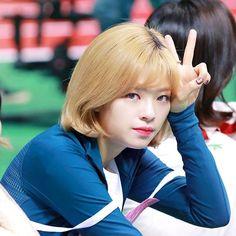 "3,723 Likes, 12 Comments - TWICE JEONGYEON (@jeongyeon.yoo93) on Instagram: ""180207 MBC Website Update MBC 2018 Idol Star Athletics Championship ✌ . . . . #트와이스 #TWICE #나연…"""