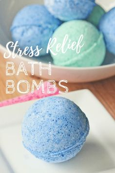 DIY Homemade Stress Relief Bath Bombs recipe made with a variety of essential oils – lavender, grapefruit, orange, chamomile & clary sage. Great gift idea for new moms, teachers & more! Gifts For Mum, Great Gifts, Xmas Gifts, Special Gifts, Homemade Essential Oils, Bombe Recipe, Bomb Making, Bath Bomb Recipes, Bath Bombs