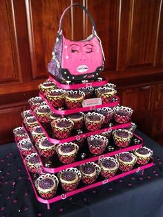 Betsey Johnson Purse - Hand Painted with cupcakes
