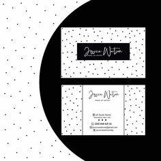 Black dots Business Card Template Black and White Business Card Design Minimalist Simple Elegant Clean Monochrome Minimalist Branding Custom Logo Design, Custom Logos, Black Dots, Black And White, Business Logo Design, Business Names, Text Color, Gd, Card Templates
