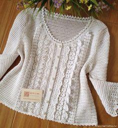Blanco blusa de tejer lomo con volantes (16) (644x700, 422KB)