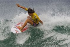 Australia's Tyler Wright competes in round three of the Association of Surfing Professionals (ASP) Billabong Rio Pro women's surfing competition at Barra da Tijuca beach in Rio de Janeiro, Brazil, Saturday, May 12, 2012. (AP Photo/Felipe Dana)