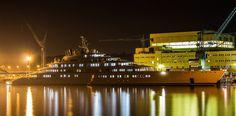 azzam yacht at night