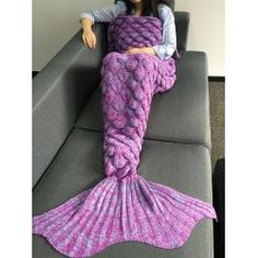 SHARE & Get it FREE | Crochet Knitting Fish Scales Design Mermaid Tail Style BlanketFor Fashion Lovers only:80,000+ Items • FREE SHIPPING Join Twinkledeals: Get YOUR $50 NOW!