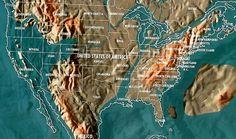 Future map of the United States by Gordon Scallion
