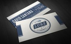 LURE A Fishing Co. 30 Vintage Business Card Designs