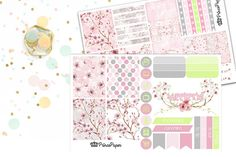 Planner Sticker Weekly Kit Cherry Blossom for your Erin Condren Life Planner…