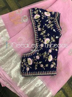 Needles n Threads, Nish*tha celebrations,Kings court avenue, Nellore Pattu Saree Blouse Designs, Simple Blouse Designs, Stylish Blouse Design, Silk Saree Blouse Designs, Blouse Patterns, Embroidery Patterns, Machine Embroidery, Maggam Work Designs, Diana