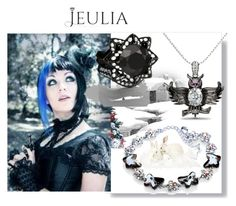 """Jeulia Jewelry"" by nihada-niky ❤ liked on Polyvore featuring beauty, black, jewelry and jeulia"