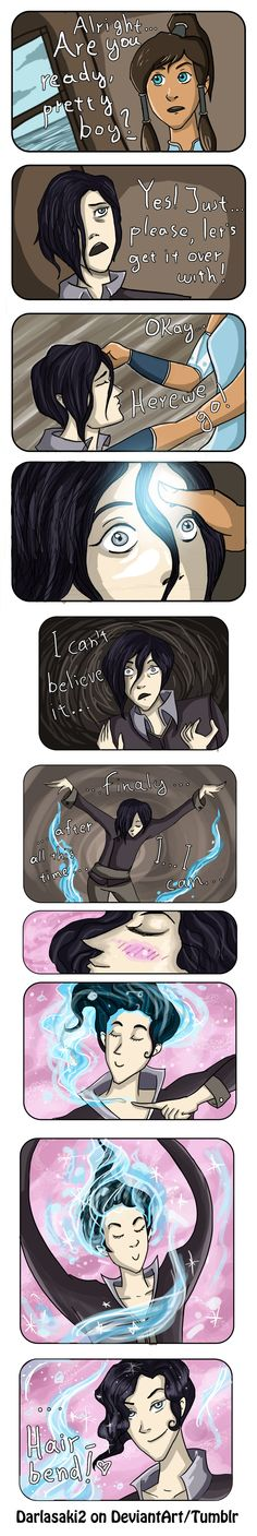 Tahno didn't let his hair go to crud because he was depressed, but rather because he didn't know how to take care of himself without water bending.