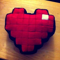 Pixel Pillow  Heart  Life  Plush  Legend of Zelda valentine  by EpicLewt $38.59