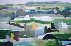 Green, Olive, Grey by Belynda Henry at Richard Martin Art - Belynda Henry - Colour My World