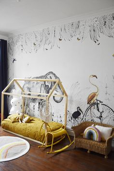 home office decor Baby Bedroom, Girls Bedroom, Ideas Habitaciones, Diy Home Decor, Room Decor, Solid Rugs, Kids Room Design, Nursery Neutral, Custom Furniture