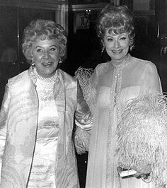 Lucy & Vivian Vance. Not sure what the exact year is but it looks like the late 1970s