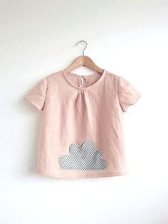 little cloud pocket linen top / blouse / tunic by swallowsreturn