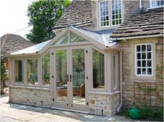 Pergola Attached To House Roof Cottage, Garden Room Extensions, Cottage Exterior, Country Cottage, Porch Design, Country Cottage Decor, Thatched Cottage, Porch Extension, Sunroom Designs