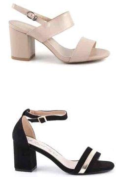 Sandale Damă cu Talpă Medie Dragute | Medium-heeled sandals for women - alizera Heeled Sandals, Heeled Mules, Heels, Medium, Casual, Shopping, Fashion, High Sandals, Heel