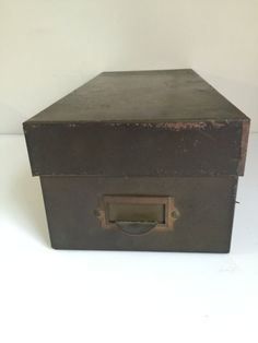 Vintage Asco NYC Green Metal Storage Box with Top by Mumscottage