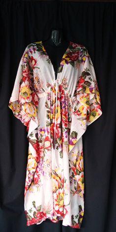 SOFT Floral Cotton Kaftan Dress by MollyKaftans on Etsy, $69.00