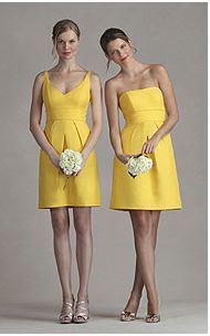 yellow bridesmaid dresses - like the style, just a different color!