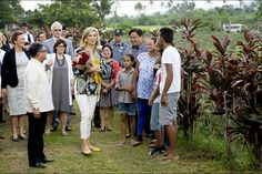 On June 30, 2015, Queen Maxima of the Netherlands visited a pineapple farm in the Tagaytay City, south of Manila, Philippines.