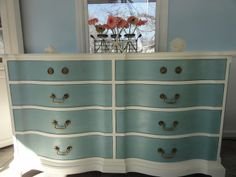 Two Tone Painted Furniture | two tone dresser | I want to paint some furniture