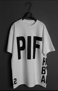 Indie Designs Hood by Air Inspired HBA x PIF Print T-Shirt