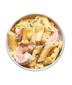 Pasta Salad With Shrimp, Corn, and Tarragon recipe