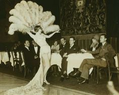 Vintage Print - Nina Susov at Club Anatole - Showgirl - 1920's