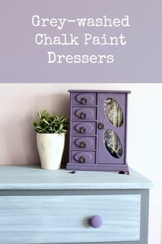 DIY Chalk Paint Furniture Ideas With Step By Step Tutorials - Grey Washed Chalk Paint Dresser - How To Make Distressed Furniture for Creative Home Decor Projects on A Budget - Perfect for Vintage Kitchen, Dining Room, Bedroom, Bath http://diyjoy.com/chalk-paint-furniture-ideas