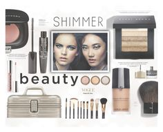 """""""Shimmer Beauty"""" by katarina-blagojevic ❤ liked on Polyvore featuring beauty, TheBalm, Marc Jacobs, Giorgio Armani, Rimowa, Buxom, By Terry, Bobbi Brown Cosmetics and Smith & Cult"""