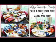 Large Weekly Grocery Haul + Dollar Tree Haul! Lots of shopping here...had to get stuff for the house and Myrtle Beach...have a look!  #Travel #foodShoppingHaul #foodHaul #menuideas