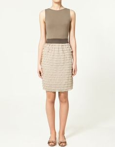 Like the three levels of neutral brown in this dress. $60 at Zara