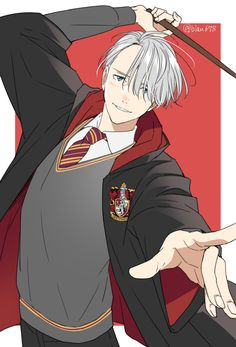 Gryffindor Victor - Yuri!!! on Ice goes Harry Potter by 夏子 on pixiv