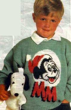 детский джемпер с орнаментом