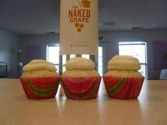 White Wine Cupcakes \ Cupcakes for Dinner