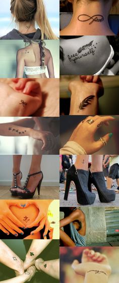 Cute simple tattoos :) love these!