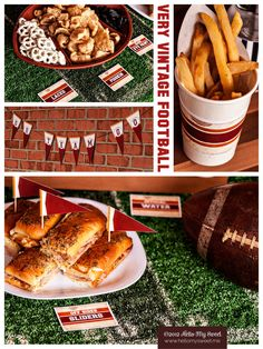 Very Vintage Football Party by Hello My Sweet www.hellomysweet.me #football #birthday #party #printables #tailgate #game #day #sports