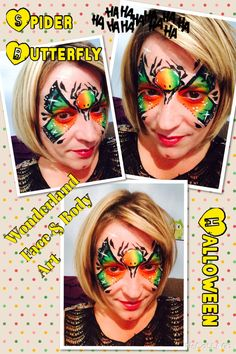 Spider butterfly face paint