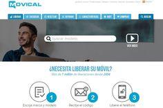 Movical es una página que ofrece sus servicios para liberar un teléfono por IMEI, con todo tipo de marcas y modelos disponibles. Smartphone, Templates, Branding, Tools