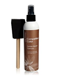 Self Tan - Dance Spa Competition Color - DanceShopper.com - Lasts 7 days and can be applied repeatedly to achieve desired result and won't run streak.