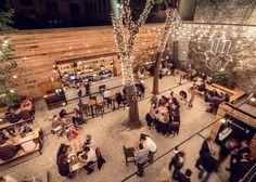 MazelTov bar by & Studio Arkitekter, Budapest – Hungary Restaurant Bar, Concept Restaurant, Outdoor Restaurant Design, Restaurant Poster, Restaurant Seating, Design Blog, Design Studio, Cafe Design, Patio Design