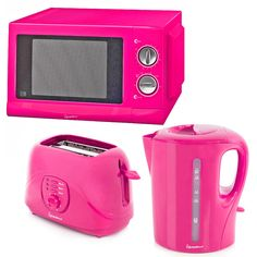 *New* Signature Pink Microwave Kettle & Toaster
