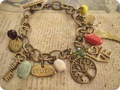 Inspire Me a charm bracelet by trinketsforkeeps on Etsy, $15.50