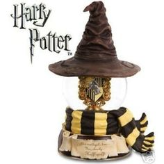 HARRY POTTER HUFFLEPUFF SORTING GLOBE SF MUSIC BOX CO.   I want this so much!!!