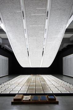 "A deep treading on thin: ""Xu Bing: A Retrospective"" (via www.pinterest.com/AnkApin/public-b-commercial)"