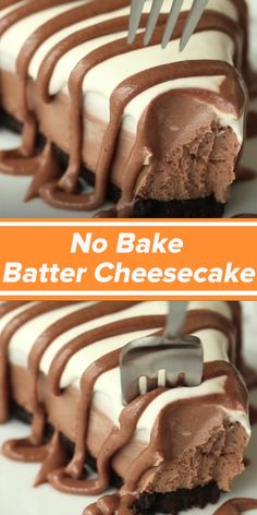 No Bake Brownie Batter Cheesecake desserts for cream cheese batter brownie chees . - No Bake Brownie Batter Cheesecake desserts for fresh cheese batter brownie cheesecake - Cheesecake Desserts, No Bake Desserts, Easy Desserts, Delicious Desserts, Yummy Food, Brownie Cheesecake, Homemade Cheesecake, Classic Cheesecake, Health Desserts