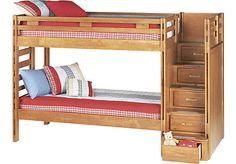 picture of Creekside Taffy  3 Pc Twin/Twin Step Bunk Bed  from Beds Furniture $599 plus $100 for bunkie boards
